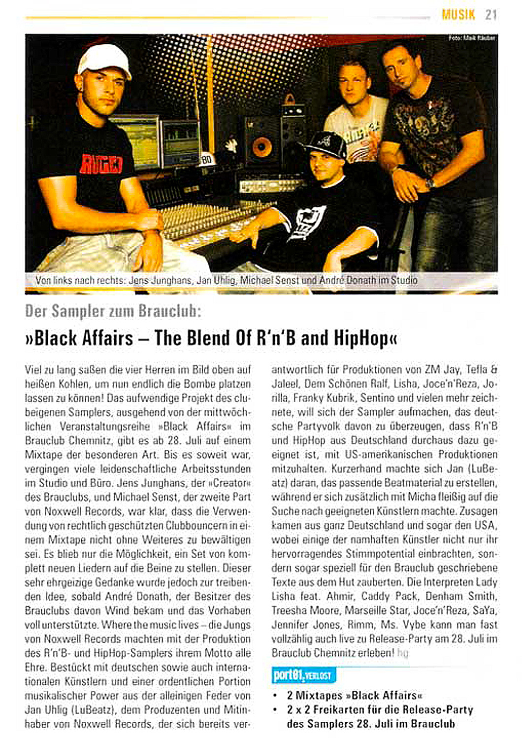 Jan Uhlig - LuBeatz - Noxwell - Black Affairs - The Blend Of R'n'B and Hiphop